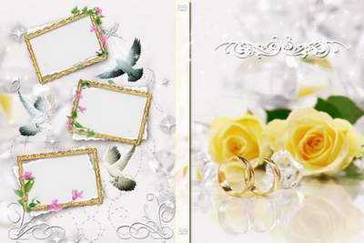 Template for DVD «Wedding» free download