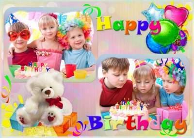 Children's set for Photoshop - Happy Birthday free download