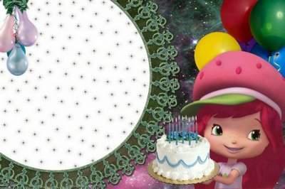 Children frame for Photoshop - Happy Birthday to you