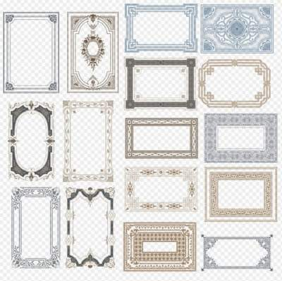 Clipart PSD beautiful frames necklines free download