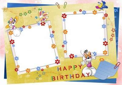 Children's birthday frame free download