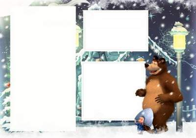 Frames for baby On the edge of a forest holiday New Year free download