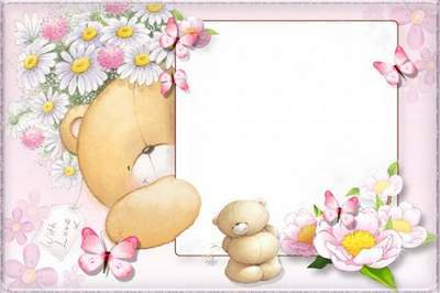 Free Baby girl photo frame template free download