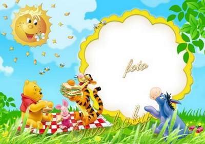 Children frame with Winnie and his friends down Our baby free download
