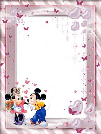 Children's framework for a photo psd photoshop Mickey Mouse free download