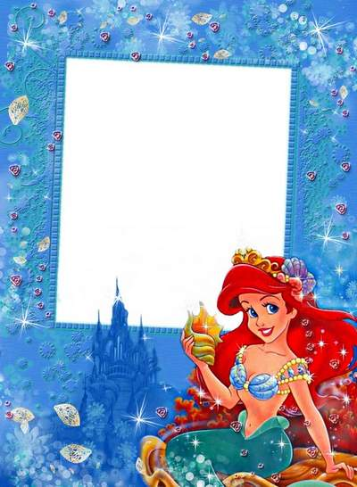 Frame for girls with a mermaid Ariel - How beautiful mysterious underwater world!