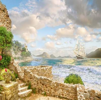Seascape Backgrounds 26 JPG, 2500x1500 px, free download