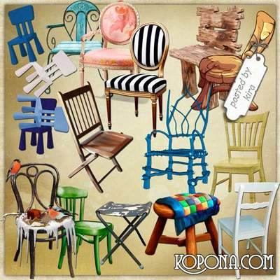 Furniture free png clipart - 130 PNG images Chairs, Stools free download