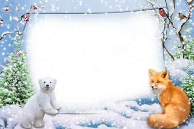 kids winter picture frames - Winter Photo Frames