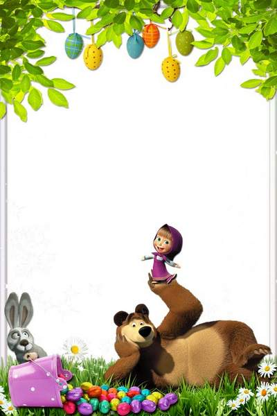 Kid's Frame with Heroes of Cartoon Films - Holiday with Masha