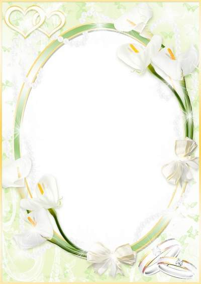 Wedding photo frame - Wedding white calla free download