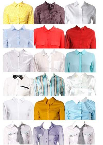 Clothes Clipart psd download - Women's shirts free psd file
