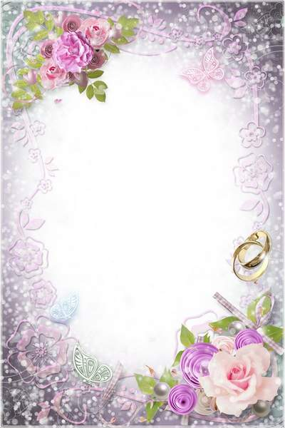 Wedding Frame for Photoshop - Tender Happiness