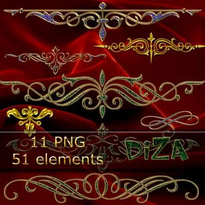Decorative elements for design free png clipart download