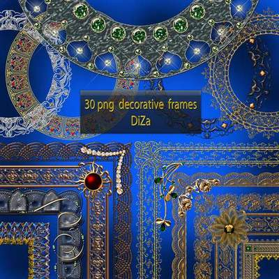 Decorative frame cutouts download - 30 FREE png frames