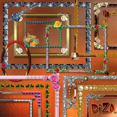 Set decorative png frames-necklines download - 20 FREE png frames
