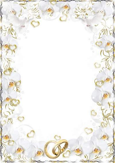 Wedding photo frame - Elegant tenderness of orchids