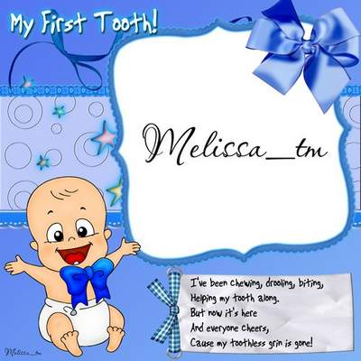 Baby boy frame & Baby girl frame download - My First Tooth