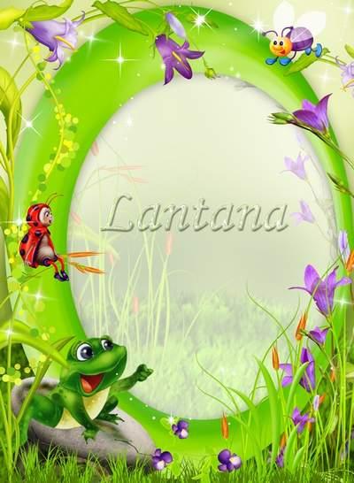 Children frame free download - My bells, flowers steppe