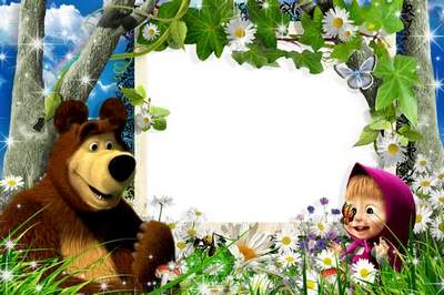 Frame for Photoshop free download - Masha and the Bear