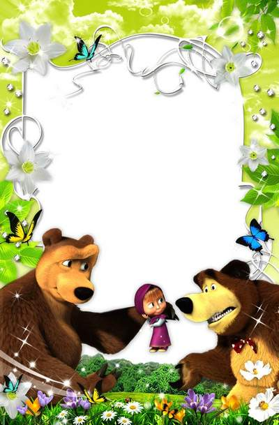 The children's frame with Masha free download - Came spring
