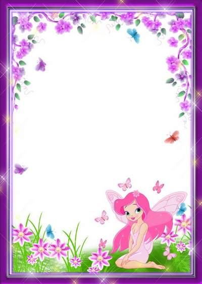Child's frame free download - Fairy-tale fairy and butterflies