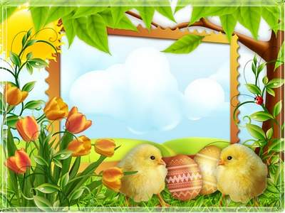 Children's Easter frame free download - As the sun shines bright as the sky bright interior
