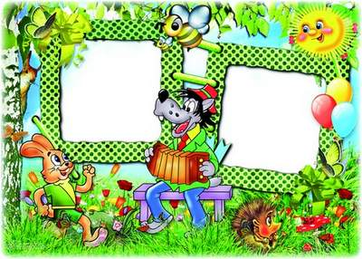 Children frame with cartoon characters - Oh, Wait - And we have a good tale