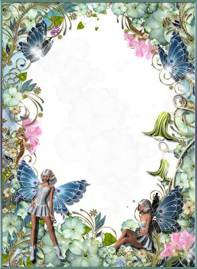 Children frame free download - Flowers like butterflies, and butterfly - flowers