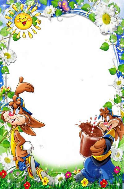 Funny Frames for nursery photo free download- on the nature of Nesquik