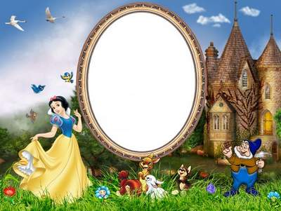 Children frames for Photoshop - The Tale of Snow White and the Dwarfs