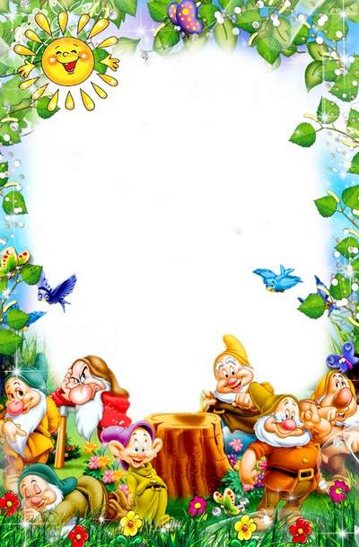 Bright frame for nursery photo free download - Visiting Fairy Tales