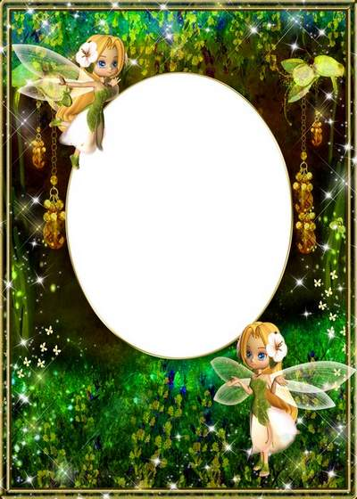 Child's frame free download - Little fairies and magic forest