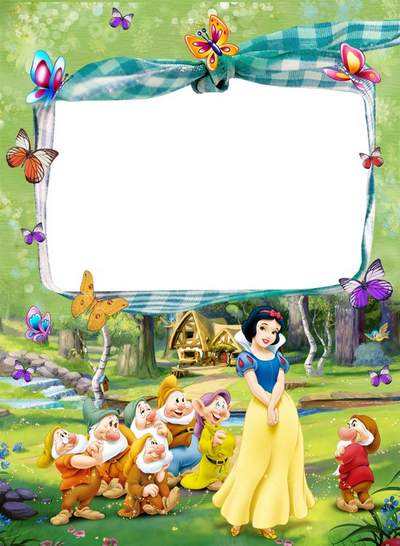 Frame for girls with cartoon characters - Snow White, how beautiful you are!