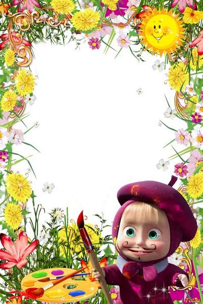 Children's frame with Masha free download - Drawing