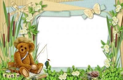 Children frame png I jolly little fisherman free download
