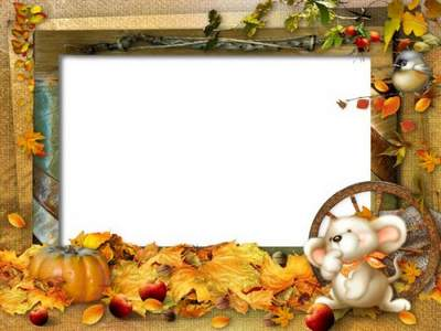 Baby Frame PSD Photoshop Spun me a rain of leaves naughty free download