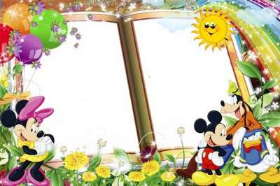 Frame for Photoshop Funny Mickey Mouse free download