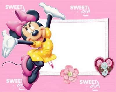 Kids frames psd with Disney heroes Mickey Mouse free download