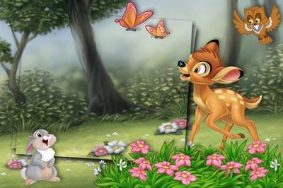 Kids frames with your favorite cartoon characters of Disney - Bambi free download