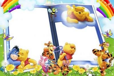 Photoshop Children frame for Photoshop boys - Disney World free download