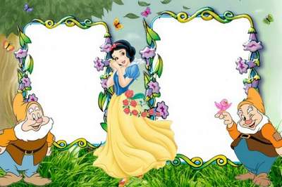 Children's frame with the fantastic princess free download