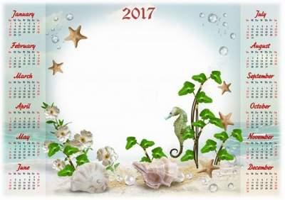 2017 Photoshop Calendar frame psd free download
