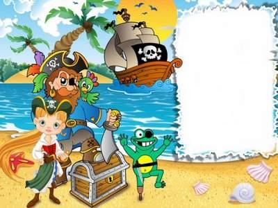Children photo frame free psd download