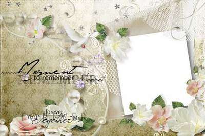Frames for photoshop - Our wedding free download