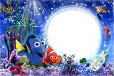 Kid's Cartoon Frame for Photoshop - Nemo, Ocean Adventure