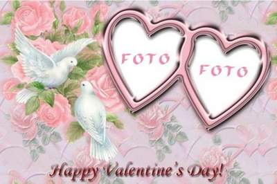 Romantic photoframe - Happy valentine's day