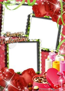 5 Free png Romantic frames download - Love with chocolate flavor
