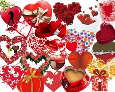 Heart Clipart download free psd - World ruled by love