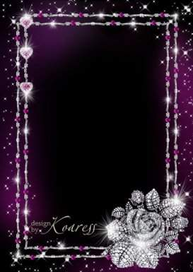 Set of glamourous photo frames with jewelry - Girls' Best Friends are diamonds